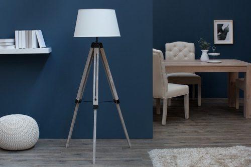 Nowoczesna lampa podłogowa Sylt beżowa tripod