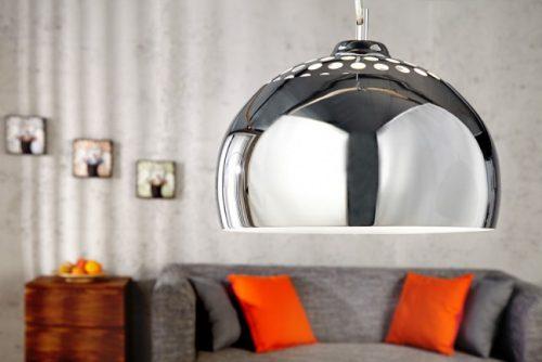Nowoczesna lampa wisząca Chrome Ball