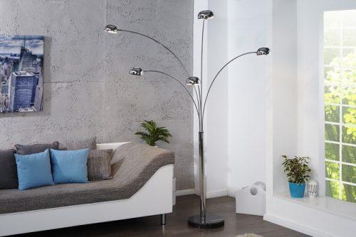 Lampa podłogowa Five Lights chrome