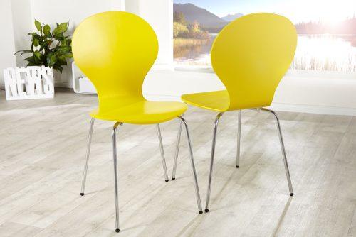 Krzesło do biura Form Yellow zestaw 4szt