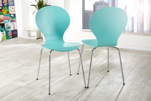 Krzesło do biura Form Turquoise  zestaw 4szt