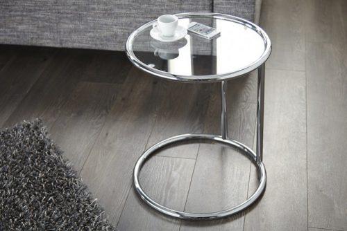 Stolik ART DECO 55cm srebrny