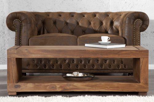 Stylowy stolik TV z drewna Madeira