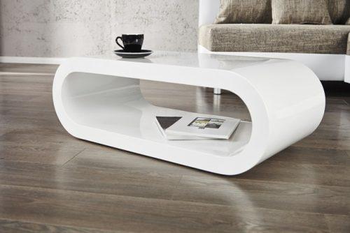 Stolik kawowy BOWL 90cm biały