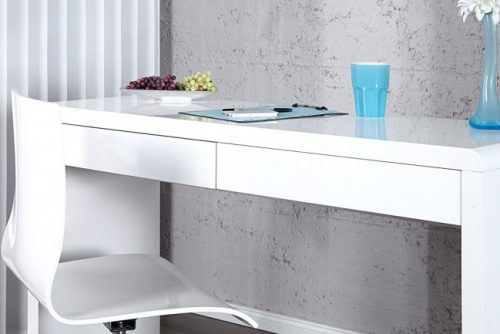 Białe biurko Sensation 120 cm połysk
