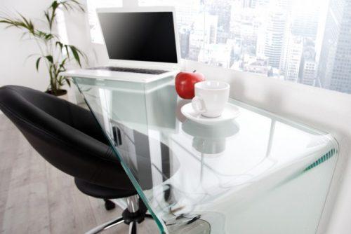 Biurko ze szkła Ghost 100cm