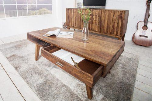 Stolik kawowy RETRO 117 cm drewniany ława