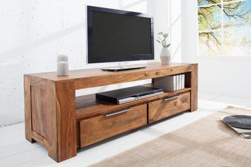 Stolik TV z drewna Sheesham Makassar 130cm