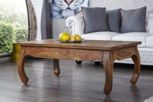 Drewniany stolik kawowy do salonu Opium 115 cm