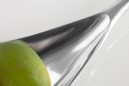 Nowoczesna misa na owoce do salonu Misa Silver Leaf