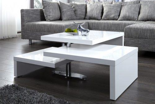 Nowczesny chromowany stolik do salonu Fabric