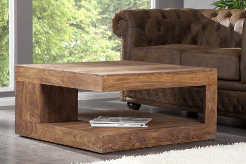 Drewniany stolik do salonu Giant XL 90cm