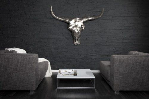 Srebrne aluminiowe poroże Matador 70 cm