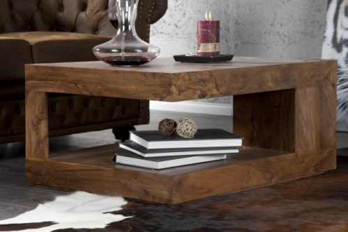 Drewniany stolik do salonu Giant L