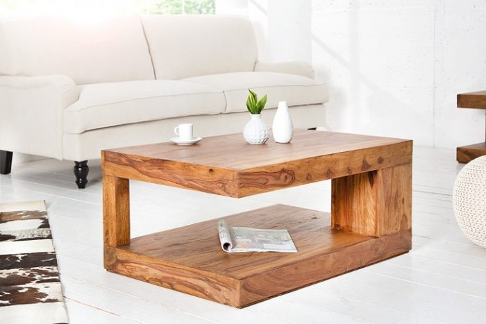 Stolik kawowy GIANT L z litego drewna