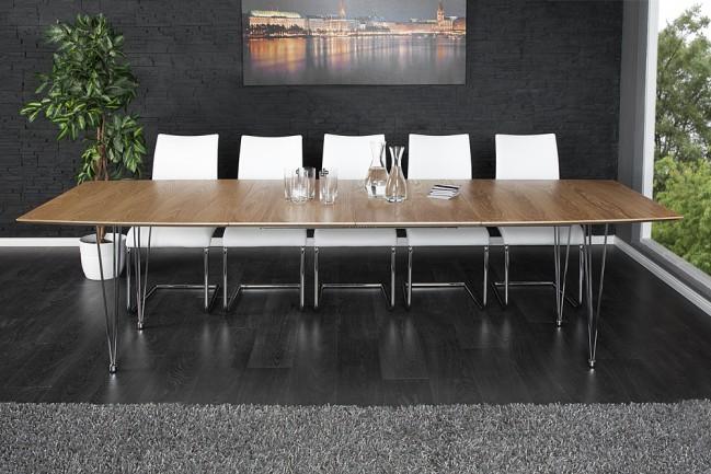 Modne ubrania Nowoczesny stół do biura, salonu, dąb, drewno - Continental 270 cm VI11