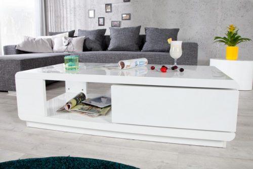 Stolik FORTUNA nowoczesny lakierowany biały
