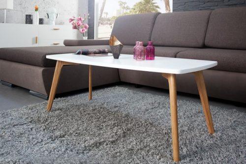 Elegancki stolik kawowy do salonu Scandinavia 110 cm