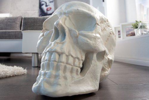 Biała czaszka do salonu 40 cm