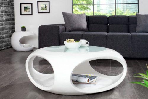 Stolik kawowy Organic Living II 75 cm biały