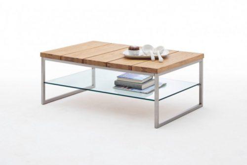Nowczesny stolik kawowy z drewna do salonu Norge