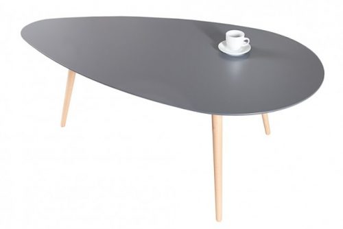 Grafitowy stolik kawowy do salonu Scandinavia 115cm