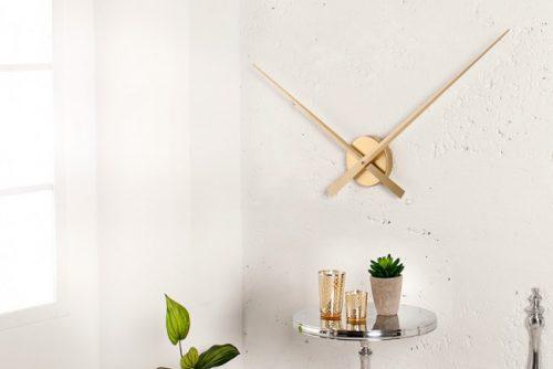Nowczesny zegar ścienny Simple Time gold