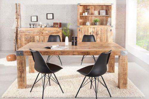 Masywny stół z naturalnym blatem Rancho 200 cm