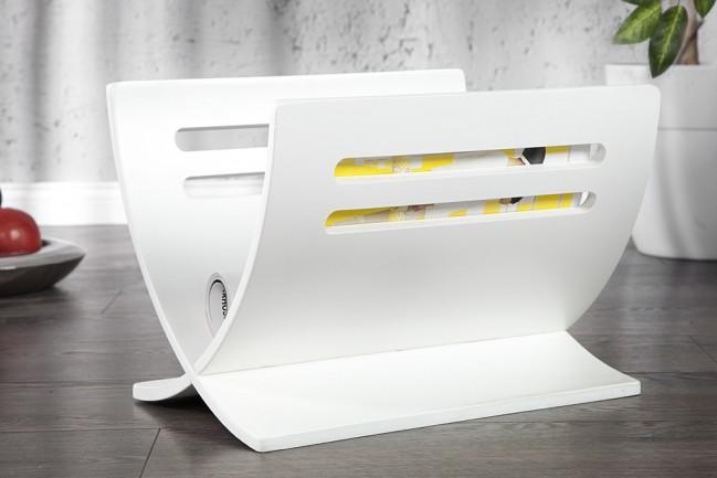 Poważne Biały drewniany stojak na gazety, nowoczesne dekoracje - cena MG48