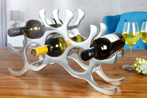Nowoczesny stojak na wino Alu