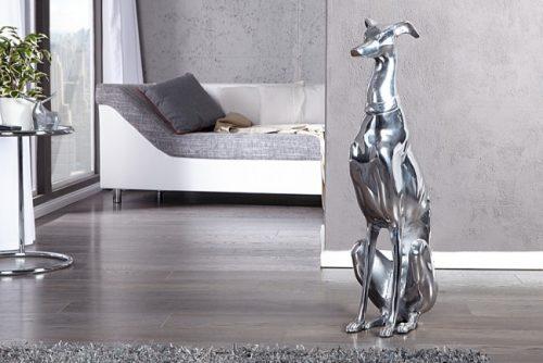 aluminiowy pies GREYHOUND art.dekoracyjny