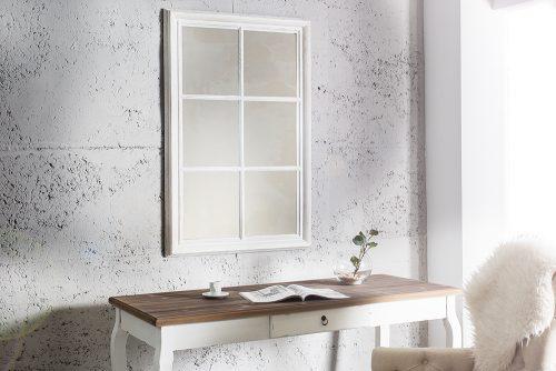 Lustro ścienne wiszące Window Białe 105 cm