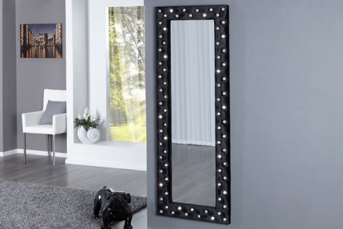 Ekskluzywne lustro wiszące BOUTIQUE 170 czarne