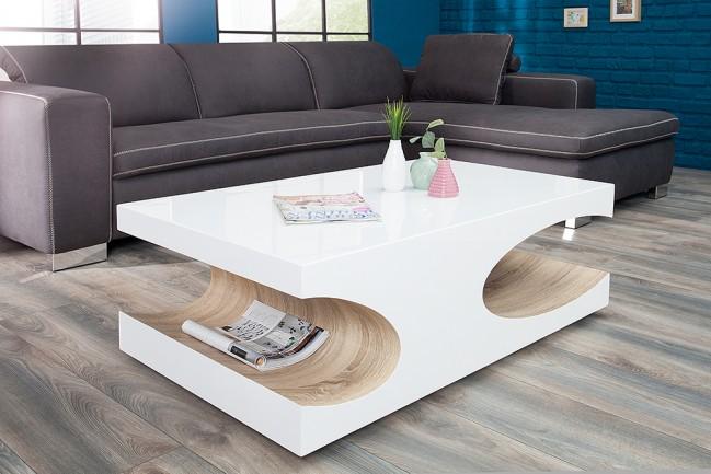 Stolik Cube 120 Biały Kawowy Nowoczesny Design