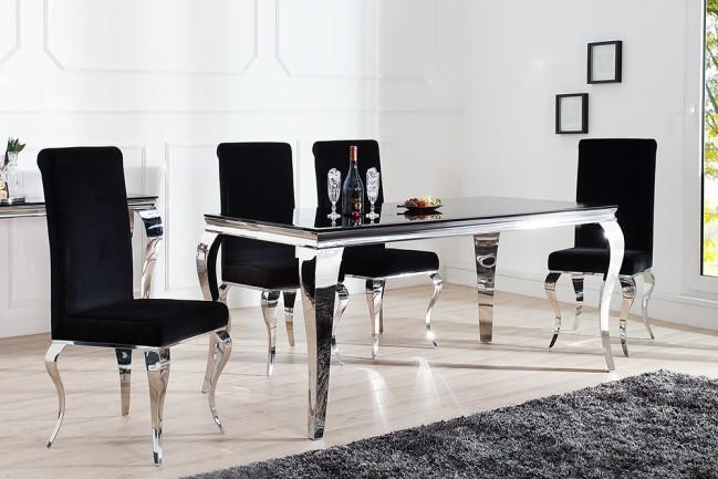 Stół MODERN BAROCK 180cm nowoczesny CZARNY