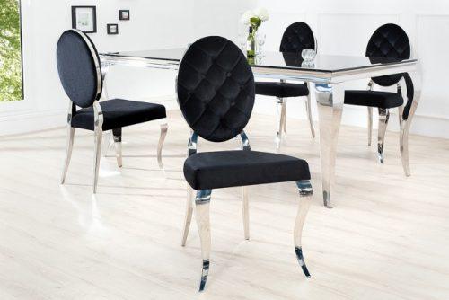 Stylowe krzesło aksamitne MODERN BAROCK czarne