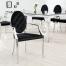 Krzesło MODERN BAROCK nowoczesne stylowe czarny aksamit
