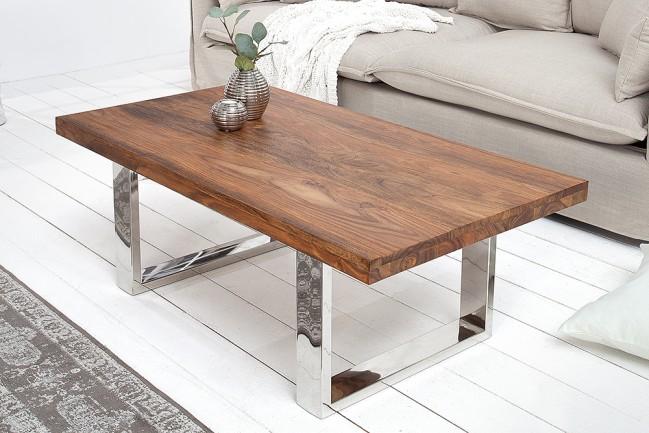Masywny stolik kawowy FIRE 110cm ława drewniana