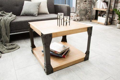 Elegancki stolik do salonu drewniany industrialny Factory 60