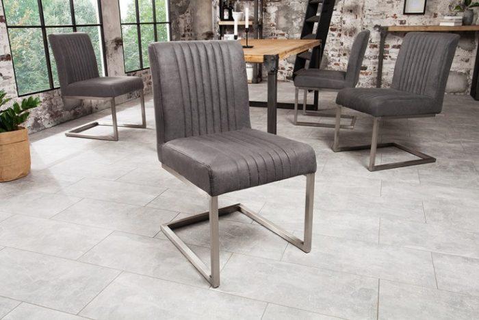 Krzesło ze stali nierdzewnej BIG ASTON vintage