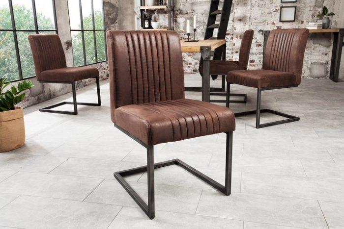 krzesło ze stali nierdzewnej BIG ASTON vintage brąz