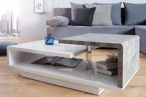 ława concept 100cm biały połysk stolik kawowy nowoczesna ekskluzywna