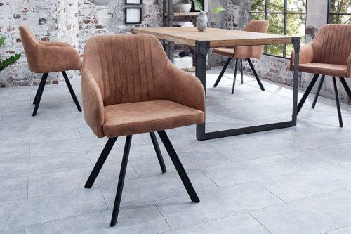 Krzesło LUCCA vintage brązowe