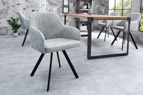krzesło lucca vintage szare