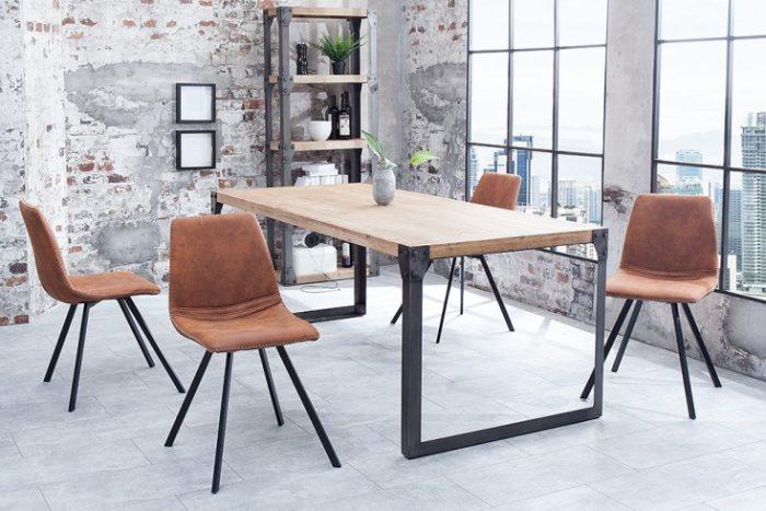 krzesło retro AMSTERDAM CHAIR brązowe