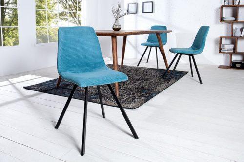 Fotel retro AMSTERDAM turkusowo-niebieski