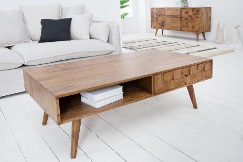 Masywny stolik kawowy MOSAICO 120cm Efekt 3D