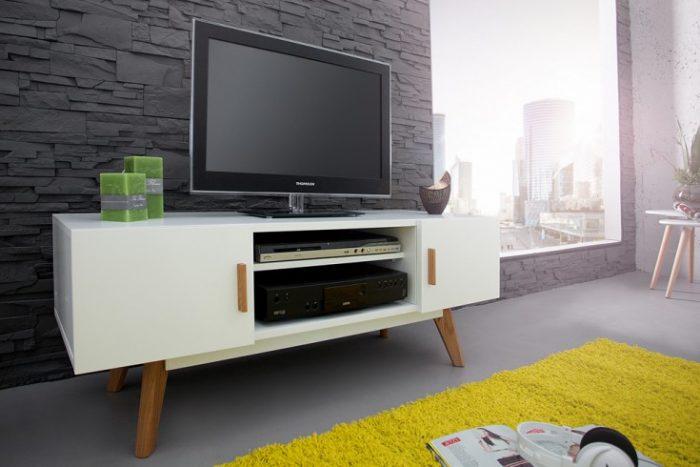 Konsola SCANDINAVIA 120cm - biały stolik pod telewizor