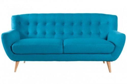 Klasyczna sofa 3-osobowa SCANDINAVIA MASTER PIECE -turkusowa