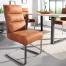 Ekskluzywne krzesło w stylu Vintage COMFORT Brown płozy
